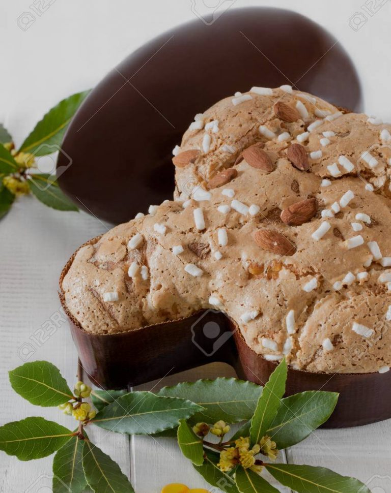 Colomba Pasquale And Chocolate Egg