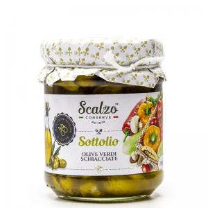 Olive Verdi Schiacciate sottolio