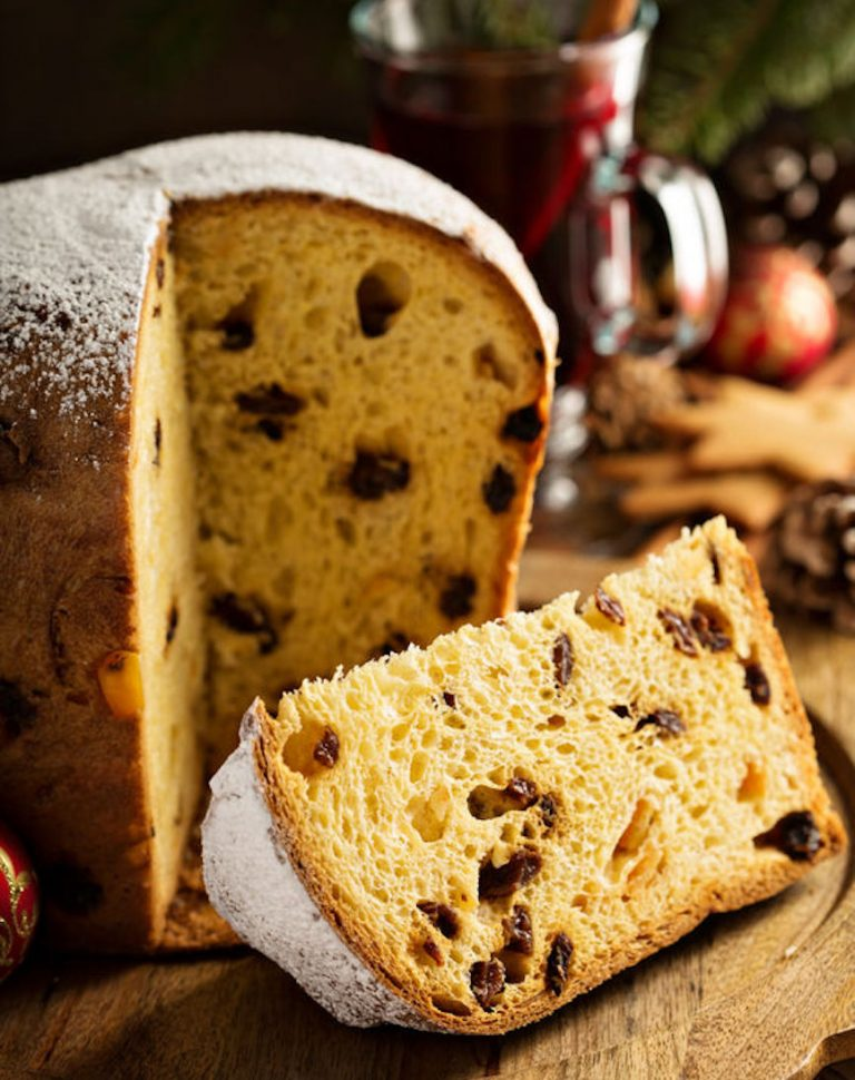 68640102 - traditional christmas panettone with dried fruits